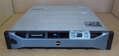 Dell Compellent SC200 5.4TB 12x 450GB 15K 2x SC2 EMM 2x PSU Expansion Enclosure